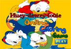 Huey Dewey Louie Duck with Earth Online Coloring Game
