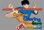 Jackie Chan Adventures Online Coloring Game