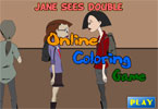 Jane Sees Double Online Coloring Game