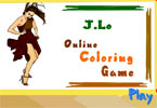 jeu en ligne de coloration de Jennifer Lopez
