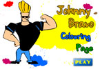 Johnny Bravo Colouring Page