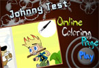 Johnny Test online målarbok