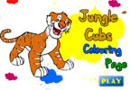 Jungle Cubs Colouring Page