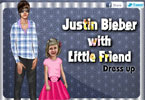 Justin Bieber with little friend dress up