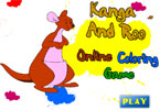 Kanga And Roo Online Coloring Game
