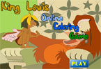 King Louis Online Coloring Game