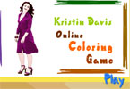 jeu en ligne de coloration de Kristin Davis