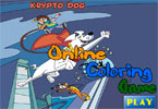 jeu en ligne de coloration de Krypto Dog