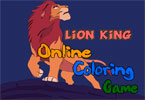 Lion King Online Coloring game