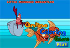 jeu en ligne de coloration de Little Mermaid Sebastian
