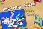 Looney Kids Online Coloring Page