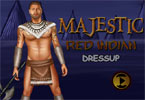 Majestic Red Indian Dressup