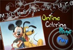 Mickey and Pluto Online Coloring Page