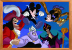 Mickey y los villanos ordenar los cuadros de