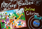 Mickey Garden Online Coloring Game
