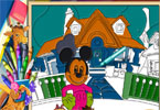 Mickey House Online Coloring Page