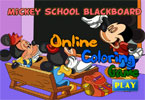 Mickey School Blackboard Online Coloring Game