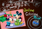 mickeys regalo en lnea pgina para colorear
