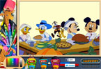 Mickeys Thanksgiving Treat Online Coloring Page