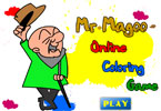 Mr Magoo Online Coloring Game
