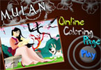 Page en ligne de Coloration de Mulan