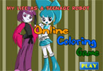 My Life as a Teenage Robot Online Coloring Game