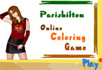 jeu en ligne de coloration de Paris Hilton