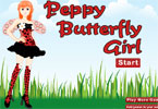 Peppy Butterfly Girl