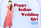 Peppy Indian Wedding Girl