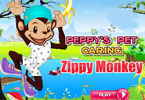 peppy \'s pet zorg - zippy aap