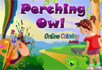 Perching Owl Online Coloring Page