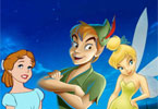 Page en ligne de coloration de Peterpan et Tinkerbell