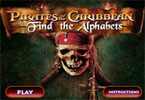 Pirates Of The Caribbean Find The Alphabets