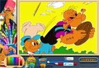 Playing Popeye Online Coloring Page