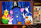 Pooh Halloween Online Colorazione Pagina