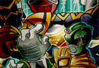 la folie puzzle Power Rangers