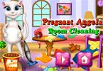 Pregnant Angela Room Cleaning