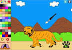 Prowling Tiger Online Coloring Page