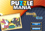 Puzzle Mania Duck with Cat
