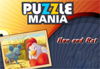 poule Puzzle Mania et le rat