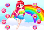 Regenbogen-Fee dress up