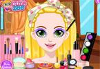 rapunzel glitter make-up