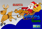 Santa Online Coloring Game