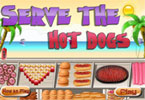 Servir les hot-dogs