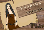 jeu en ligne de coloration de Shakira