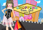shopping girl adolescent habiller