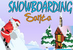 snowboarden santa