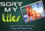 Sort My Tiles King and Princess Lion