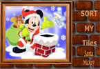 Sort My Tiles Santa Mickey