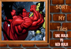 Sort My Tiles She Hulk vs Red Hulk